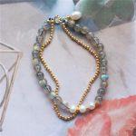 Customize Natural Moonstone Bracelet <b>Handmade</b> Personalized Gold Wrap Fillde Bangles Vintage Pearl <b>Jewelry</b> Bracelet for Women