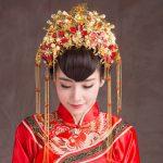 Vintage Chinese Style Classical <b>Jewelry</b> Traditional Bridal Headdress <b>Wedding</b> Hair Accessory Gilding Coronet Headwear