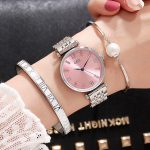 GEDI Fashion Rose Gold <b>Silver</b> Women Watches Top Luxury Brand Ladies Quartz Watch 3 Pieces Girl's Watch Relogio Feminino Hodinky