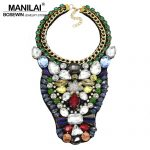 MANILAI Women Charming Party Wedding <b>Jewelry</b> Handmade Fashion <b>Accessories</b> Multicolor Crystal Beads Collar Chokers Necklaces