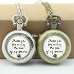 WholesaleWedding Day Pocket Watch Mother Of The Groom or Bride <b>Jewelry</b> Glass Locket Necklace <b>Antique</b> Pocket Watch Necklace