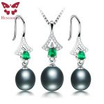 HENGSHENG Amazing Price Beautiful Pearl <b>Jewelry</b> Sets For Women,High Luster Top Quality Natural Pearl,Green <b>Jewelry</b> Women Set