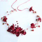 Jonnafe Handmade Red Flower Women <b>Wedding</b> Prom Hair Crown Accessories Bridal Headband Hair Wreath <b>Jewelry</b>
