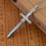 FNJ 925 Silver Cross Pendant 100% Pure S925 Solid Thai Silver sword Pendants for Men <b>Jewelry</b> <b>Making</b>