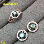 KJJEAXCMY Fine <b>jewelry</b>, 925 <b>Sterling</b> <b>Silver</b> Natural Star Sapphire Set 6 * 6 Ring 7 * 7 Studs Women's <b>Silver</b> <b>Jewelry</b>