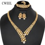 CWEEL <b>Jewelry</b> Sets Women Dubai Indian <b>Jewelry</b> Sets Round Ethiopian Wedding African Beads <b>Jewelry</b> Set Gold Color Jewellery Set