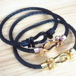 France Luxury <b>jewelry</b> Men women Force Stainless Steel <b>fashion</b> wire cable Buckle U shape Bracelet bangle Magnet buckle <b>jewelry</b>