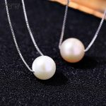 925 <b>Sterling</b> <b>Silver</b> Pearl Necklace Freshwater Pearl <b>Silver</b> Color Chain <b>Jewelry</b> for Women Approx 18 Inch Strand