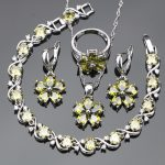 <b>Silver</b> 925 Jewelry Bridal Costume Jewelry Sets For Women Cubic Zirconia Set of Earrings Ring <b>Bracelets</b> Pendant Necklace Gift Box