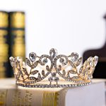 Bridal Tiaras and Crowns Silver Gold Hair Crown Full Crystal Rhinestone Queen Crown for Women <b>Wedding</b> Hair <b>Jewelry</b> Accessories