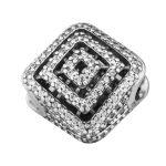 Geometric Lines Beads Fits Pandora Charms Silver 925 Original Bracelet Clear CZ Charms Beads <b>Handmade</b> <b>Jewelry</b> Making Berloque