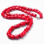 30inch / 77cm Woman <b>jewelry</b> Natural Red Coral Bead Cylinder Long Necklace <b>Handmade</b> <b>Jewelry</b> gift