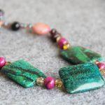 2017 New 22*30mm Natural Azurite Chrysocolla Beads Gifts Necklace Women Girls 15inch Hand Made Fashion <b>Jewelry</b> <b>Making</b> Design