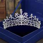 Wedding Crown Bridal Tiaras and Crowns full Cubic Zirconia Silver Color Hair Crown for Women Hair <b>Jewelry</b> Accessories
