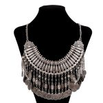 LZHLQ 2017 Boho <b>Antique</b> Coin Necklace for Women African Statement Tibetan Long Tassel Necklaces & Pendants Bohemian Maxi <b>Jewelry</b>
