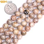 Gem-inside 8-10mm AAA Grade Natural Stone Beads Round Red Fossils Coral Beads For <b>Jewelry</b> <b>Making</b> Beads 15inch DIY Beads Gift