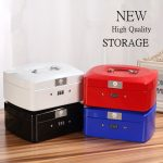 High Quality Password Iron Storage Box Table Debris Storage Box Money/<b>jewelry</b>/Office <b>Supplies</b> Storage Box Student Iron Boxes
