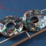 5pcs abalone shell falt black 40mm nature beads for <b>making</b> <b>jewelry</b> necklace FPPJ wholesale