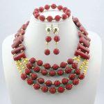 2016 Stylish Red African Costume <b>Jewelry</b> Set Nigerian Wedding African Coral Beads <b>Jewelry</b> Set <b>Handmade</b> Free Shipping C98