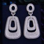 GODKI New Arrival 66mm Luxury Trendy Square Geometry Cubic Zirconia Naija <b>Wedding</b> Party Earring Fashion <b>Jewelry</b> for Women