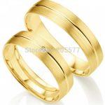 <b>handmade</b> Classic Gold Plating layer Wedding <b>jewelry</b> Anniversary gift Engagement Rings Sets