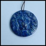 Support for custom Natural Stone Lapis Lazuli Carved Lion Head For Man <b>Necklace</b> Pendant 48x7mm 22.7g
