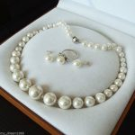 Women's Wedding Hot 8mm-16mm White south sea shell pearl ring earring and necklace set real silver-<b>jewelry</b>