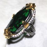 Long Oval Exquisite <b>Handmade</b> Big Stone Ring For Women Natural Green stone Noble Ring Fashion <b>Jewelry</b> 2016
