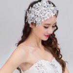 100% Handmade lace bridal headdress frontlet drill flower water pearl <b>jewelry</b> women hair accessories wedding accessories