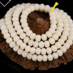Bodhi root 108 hand string <b>bracelet</b> loose beads accessories high density and white diy Buddha beads necklace material
