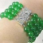 (Minimum Order1) 4 Rows Natural 8mm Chalcedony Bracelet Beads <b>Jewelry</b> <b>Making</b> Hand Made Female Bracelet 7.5inch Wholesale Price