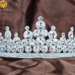 Exquisite Wedding Bridal Tiara Crown Brides Headband Clear Crystal Rhinestone Miss Beauty Pageant Fashion Hair <b>Jewelry</b>