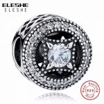 ELESHE Classic 100% 925 Sterling Silver Vintage Allure, Clear CZ Charms Fit ELESHE Women Bracelet Luxury Fashion <b>Jewelry</b> <b>Making</b>