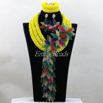 <b>Handmade</b> Braid <b>Jewelry</b> Nigerian Beaded Necklaces Sets Flowers Brooch Nigerian Wedding African <b>Jewelry</b> Sets Free Shipping ALJ085