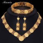 Minmin Gold Color <b>Jewelry</b> Sets for Women Chain Necklace Drop Earrings Bracelet Fashion <b>Accessory</b> 3TL058