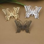40pcs/Lot 25*35mm Butterfly brooches <b>Antique</b> Bronze/Gold/Silver vintage cabochon pin base blank setting diy handmade <b>jewelry</b>