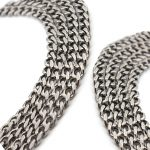 1m/lot 5.5x7mm Silver Tone Stainless Steel Miami Flat Cuba Link Chain for Men Chunky Statement Necklaces <b>Jewelry</b> <b>Making</b> F2248