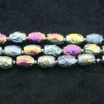 13*18mm Titanium Champagne Nugget Stone for Women Necklace Point Pendant, Full Strand Finding Beads Accessories <b>Jewelry</b> <b>Making</b>