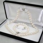 6-7MM White Real Natural Pearl Necklace Bracelet Earring Beads <b>Jewelry</b> Set <b>Making</b> Natural Stone (Minimum Order1) 18inch