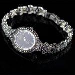 New Limited Edition Classic Butterfly 925 <b>Silver</b> Pure Thai <b>Silver</b> <b>Bracelet</b> Watches Thailand Process Rhinestone Bangle Dresswatch