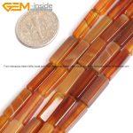 Gem-inside Natural Cube Tube Cylinder Columnar Original Agates Carnelian Stone Beads For <b>Jewelry</b> <b>Making</b> X13mm 15inches DIY