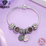 925 <b>Sterling</b> <b>Silver</b> Sweet Mother Charm Bracelet With Abundance Of Love Charm Gift for Mother Engagement <b>Jewelry</b> EDB006