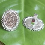 50pcs/Lot Cabochon 18.5*25.5mm Oval ring blank with Cameo Tray,Silver Plated Ring setting,<b>Handmade</b> DIY Zakka <b>jewelry</b> Finding