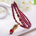 108pc/lot Natural High Quality Carlet Garnet Quartz Stone Loose Beads <b>Making</b> Bracelets DIY <b>Making</b> for Charm Bracelet Love XK-02