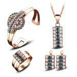 Prett Lovely Original Crystal lady Pendant Necklace Earring Ring Bracelet set suit Women's Wedding charming silver-<b>jewelry</b>