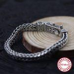 s925 sterling <b>silver</b> men <b>bracelet</b> flat chain personality classic fashion style domineering retro keel shape lover's jewelry gift