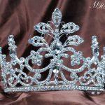 Large Flower Tiaras Clear Austrian Rhinestones Floral Crowns <b>Wedding</b> Bridal Pageant Prom Party Headband Hair <b>Jewelry</b> Costumes