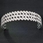 2018 New Style Rhinestone Crystals 3 Rows Bridal Wedding Headband Girl Hair <b>Jewelry</b> Accessories Headpiece HG0048
