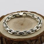 S925 <b>Sterling</b> <b>Silver</b> Personalized Punk <b>Jewelry</b> Simple Men And Women Retro Thai <b>Silver</b> Fashion Smooth Bracelet Homme