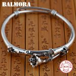 BALMORA 925 <b>Sterling</b> <b>Silver</b> Flower Bangles for Women Lover Gift <b>Sterling</b> <b>Silver</b> Bracelet Retro Fashion <b>Jewelry</b> Pulsera SY50125